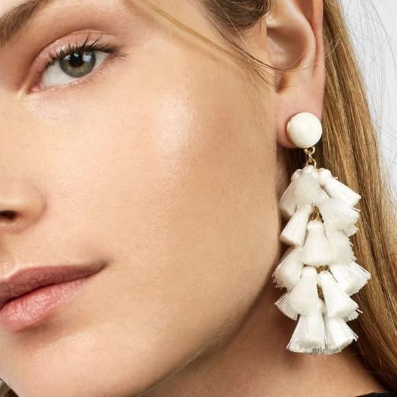 a1da36b76 BaubleBar Jewelry | Nwt White Tassel Earrings Contessa | Poshmark
